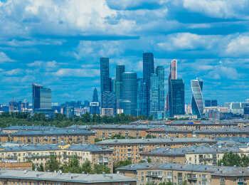 Вид из окон на Москва-сити